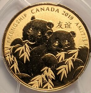 2019 $8 CANADA GILT SILVER PCGS SP69 GOLDEN PANDA FIRST DAY ISSUE TOP POP 🇨🇦