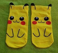 Pokemon Pikachu Socken Sneaker One Size (für Frauen Women oder Kinder Children)