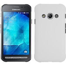 Coque Rigide Samsung Galaxy Xcover 3 - gommée blanc + films de protection