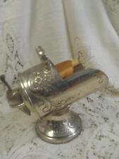 Vintage Ornate SilverPlate Tarnish Resistant Gold Interior Sugar Scuttle w/Scoop