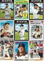 SAN FRANCISCO GIANTS HUGE BASEBALL CARD LOT(920+) (2)AUTOGRAPHS