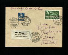 Switzerland 1925 Airmail Zurich-Innsbruck Austria  Flight SLH RF 25.5a