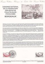 Document Philatélique Timbre 1er Jour : 09/06/ 1984 - Philatéliques Bordeaux