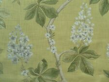 Sanderson Curtain Fabric CHESTNUT TREE 0.95m Lemon/Lettuce Floral Design 95cm