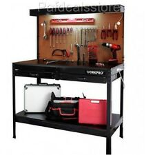 Workbench For Garage Table Tools Storage Utility Drawer Shop Light Wood Steel
