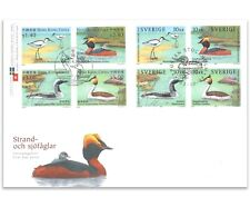 SWEDEN & HONG KONG 2003 WATER BIRDS 8 STAMPS FIRST DAY COVER FDC JOINT ISSUE