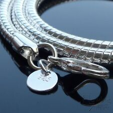 925 Sterling Silver Snake Chain 20' 50 cm 4mm Necklace Heavy Charm Pendant SP