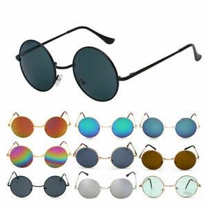 Unisex Vintage Round Mirrored Sunglasses Eyewear Outdoor Sports UV400 Glasses