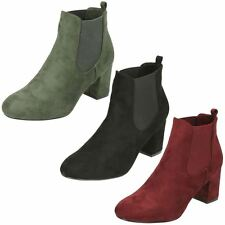 Ladies Anne Michelle Heeled Chelsea Boots UK Sizes 3-8 F50586