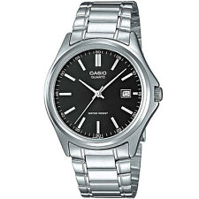 Casio Herrenuhr MTP-1183PA-1A Armbanduhr Edelstahl Silber Schwarz NEU & OVP