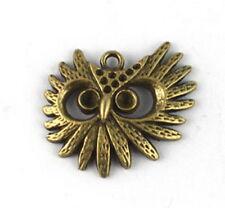 30PCS Antiqued bronze owl head Charms A13312B