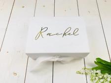 Silver Personalised Bridesmaid Box • Bridal Party Gift Box