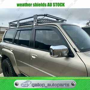Weather shields Window Visors for Nissan Patrol GU Y61 1997-2020 AU STOCK