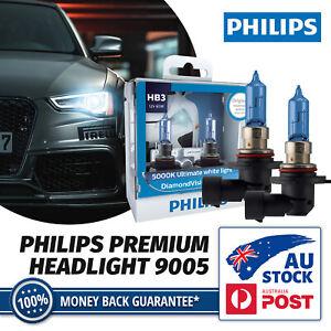 Philips HB3 9005 Diamond Vision 5000K White Halogen Headlight Hi Beam Bulb Globe