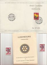 LUXEMBOURG-(2) 25th Anniversary of Rotary Club booklets w/ special cancels