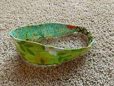 Nwots New Matilda Jane Platinum Headband Floral Green Teal Blue Art Fair