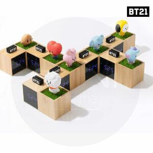 BTS BT21 Official Authentic Goods Baby LED DIgital Desk Clock + Tracking Number