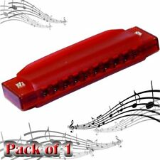 """Translucent Harmonica - 1 Harmonica Clearly Colorful 4"""" Starter Instruments"""
