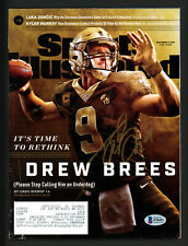 Drew Brees Autographed Signed Sports Illustrated Magazine Saints Beckett S76453