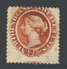 NEWFOUNDLAND 28 SG33 Used 1870 12c red brn QVIC Cat$48
