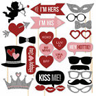 27x Valentine's Day Photo Booth Props Mustache On Stick Wedding Birthday Party