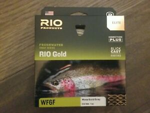 ELITE Rio Gold Fly Line - WF6F moss/gold/gray - Brand New - FREE SHIPPING!!!