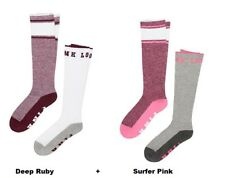 4 pairs Victoria's Secret Pink Knee Socks: Surfer Pink and Deep Ruby