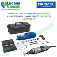 DREMEL 4000 mod 4000-1/45 MULTIUTENSILE + 46 ACCESSORI + VALIGETTA ADVANCED KIT