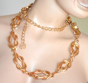 CINTURA ORO gioiello donna stringivita dorato metallo lucido catena elegante G67