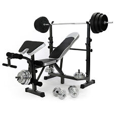 HOME MULTI GYM WEIGHT BENCH ARM LEG CURL EQUIPMENT FITNESS STRENGTH TRAINING