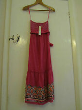 Long Pink & Orange Sleeveless Boob Tube Summer Dress by Next in Size 8 - BNWT