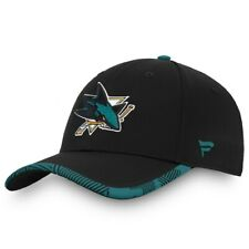 San Jose Sharks Fanatics Branded Iconic Training Speed Flex Black Hat Hockey