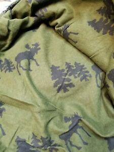 Woolrich Queen Flannel Sheet Set with Moose North Woods Never been unfolded!