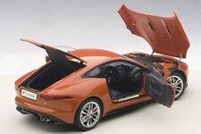 Autoart Jaguar Type F 2015 R Coupe Sablefeu / Métal Orange 1/18 Neuf en Stock