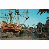 Disneyland Park c1960s Fantasyland Chicken of the Sea Boat Unused Postcard D9