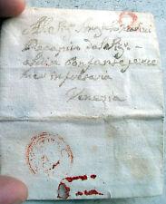 1785 PICCOLA PREFILATELICA DA PADOVA A VENEZIA ANNULLO CON LEONE DI SAN MARCO