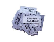 25 etiquetas textiles universal tamaños de niños 134-172