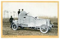 Antique WW1 military postcard A Belgian Armoured Motor Active Service No 2