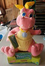 """New 1999 Hasbro Playskool Dragon Tales Cassie Pink Yellow Plush 9"""" Pbs Kids"""