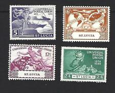 ST. LUCIA 1949, 75th ANNIVERSARY OF U.P.U. SET OF 4 STAMPS, SG. 160 - 163, MH