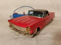 Tin Toy 1950's battery operated Bandai Japan LINCOLN CABRIOLET miss steering w.