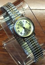 Xanadu Quartz Small Gold Toned & Silver Expandable Band Women's Wrist Watch!