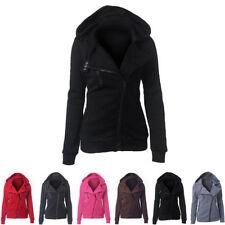 Zip Neck Unbranded Regular Plain Hoodies & Sweats for Women
