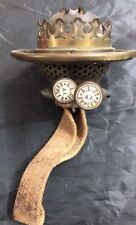ANTIQUE BRASS OIL LAMP BURNERS- DOUBLE DUPLEX With A.L Co On The Handles