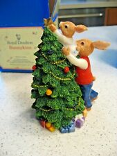 Royal Doulton Father Bunnykins and Harry Decorating the Tree Dbr12/2489