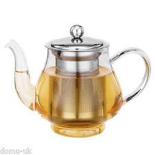 VonShef Teapot Glass 750ml Stainless Steel Infuser Filter Loose Tea Herbal