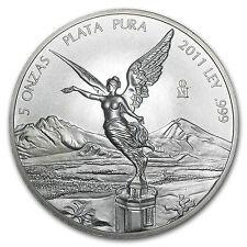 2011 5 oz Silver Mexican Libertad Coin