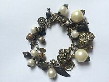 Accessorize Charm Bracelet Pearls, Originally Brought For £12 Chunky Arm Candy