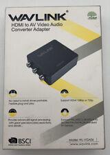 WavLink Mini HDMI to AV Video Audio Converter Adapter 480i to 1080P