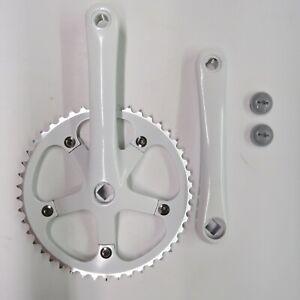 Crank  Crankset Virtue Track Bike  Fixie 170 x 46 Tooth White 130 BCD
